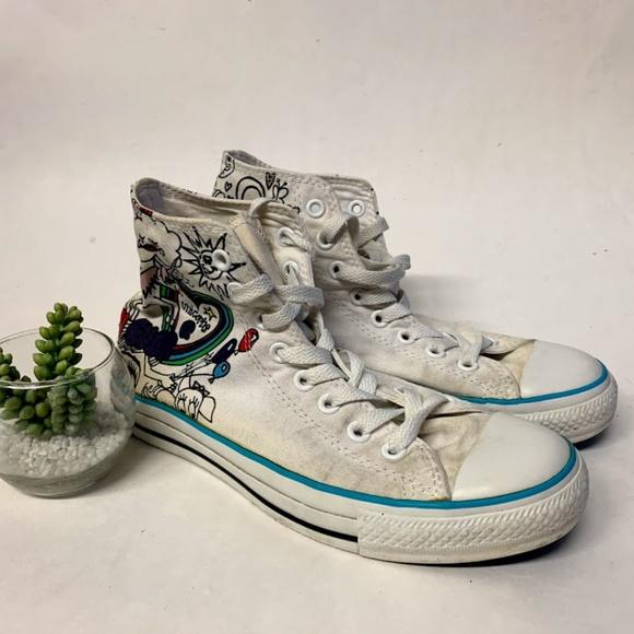 4bbbd4829638 Converse Shoes - Converse Comic Sketch Unicorn Frog Hi Top Sneakers
